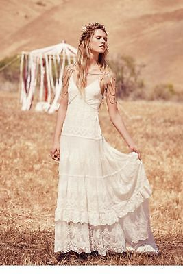 Spell & The Gypsy Free People Canon Moon Mesh Bridal Gown Dress S Rare