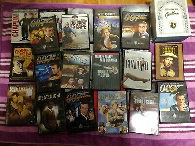 Lot of 30 Used & New DVDs No Duplicates 1910s-60s Classics Criterion Collection