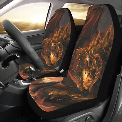 Front Car Seat Covers Dragon Rage Auto Protector Cushion Universal Fit Most Cars