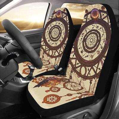 Front Car Seat Covers Dreamcatcher Feathers Auto Protector Cushion Universal Fit