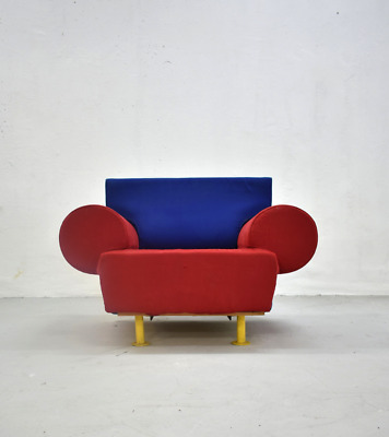 Rare Memphis Design Lounge Chair, Italy 1980s, Collectible Design