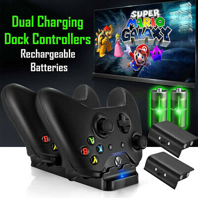 Dual Charging Dock Station Controller Charger For XBox One + 2 x Batteries