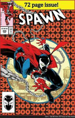 SPAWN #300 1st print AMAZING SPIDER-MAN HOMAGE COVER TODD McFARLANE SOLD OUT!