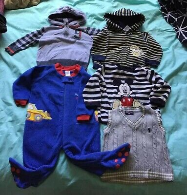 5x Baby Boy Winter Clothes Size 1