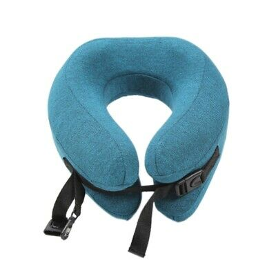 U Shape Memory Travel Neck Pillow Foldable Head Neck Chin Support Cushion G9F8