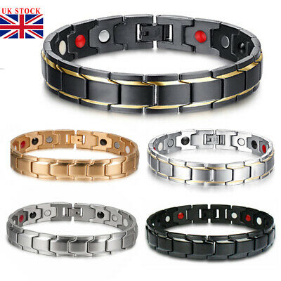 Therapeutic Energy Healing Bracelet Stainless Steel Magnetic Therapy Bracelet B