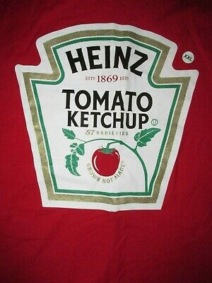 f0ff89ca Heinz Tomato Ketchup Bottle Label T Shirt Sz XXL 57 Varieties Condiment Food