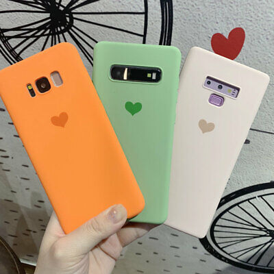 For Samsung Galaxy S10 S9 S8 + Note 8 Cute Heart Soft Silicone Slim Case Cover