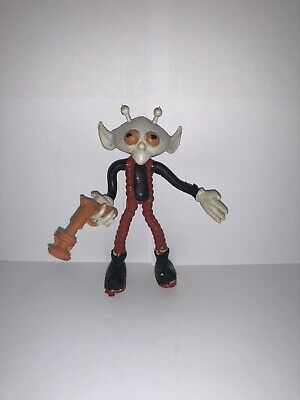 Vintage 1980s Pizza Hut Alien Bendy With Gun Super RARE Collectable Fastfood !