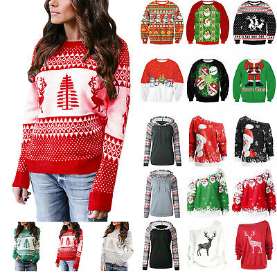 Ladies Womens Mens Xmas Christmas Novelty Vintage Jumper Retro Sweater Casual