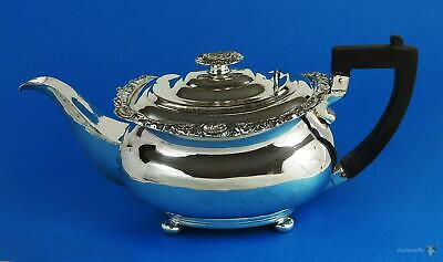 Decorative GEORGE III OLD SHEFFIELD PLATE Footed Oblong TEAPOT c1815 Regency