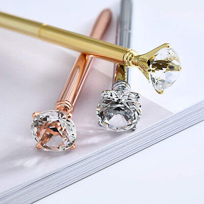 1/2pcs Crystal Ballpoint Pen Write BLING DIAMOND ON THE Scepter Writing Various