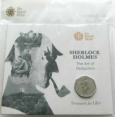 2019 Royal Mint Sherlock Holmes 50p Fifty Pence Coin Pack Sealed Uncirculated