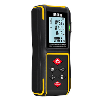 40m IP54 Laser Distance Meter with Bubble Level