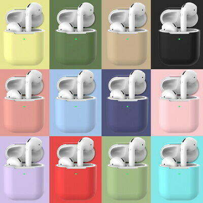 For Apple Airpods 2nd Wireless Simple Candy Color Earphone Protective Case Cover