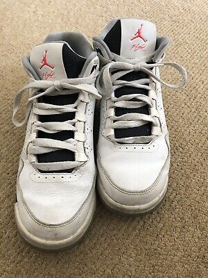 Nike Jordan Flight White & Pink Hi Top Trainers Size 5.5 UK