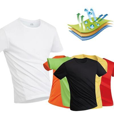 Unisex Casual O-Neck Short Sleeve Solid Quick Drying T-Shirt Top WT88 02