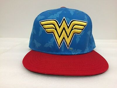 on sale fe278 b5d41 Wonder Woman DC Comics Hat Snapback Red   Blue Cap Superhero Movie Women s  TV