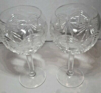 Pair WATERFORD Balloon Crystal Millennium Collection Happiness Only Stored MINT