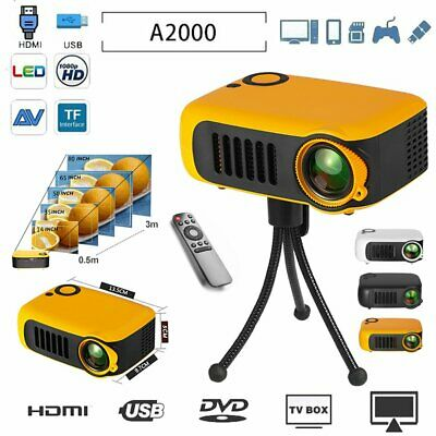 HD 1080P Portable Mini LCD Projector Home Theater Movie Multimedia HDMI/USB/SD