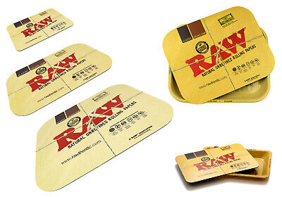 New RAW Rolling Tray With Magnetic Cover Lid All Sizes Available