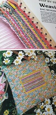 Rag Weaving Braiding and Quilting Patchwork Cushiin Sewing  Pattern