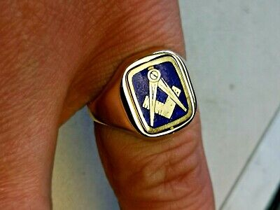 9CT GOLD MASONIC ring   6 5 grams  - £45 00 | PicClick UK