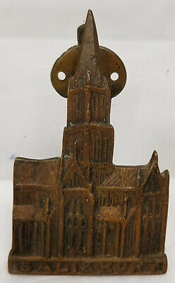 Antique Vintage Cast Brass Bronze Salisbury Cathedral Decorative Door Knocker