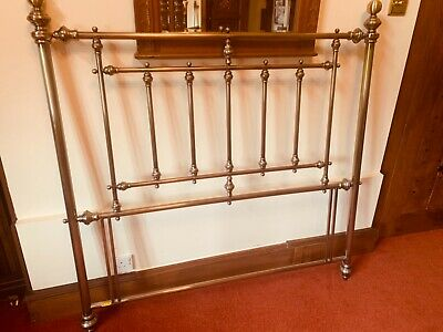 Antique Styled Brass Metal Headboard for Double Bed, Good Condition.