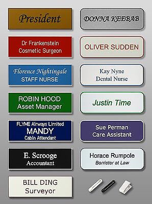 Personalised Engraved Name Badge - Staff Office Hospital Nurse School Party ID