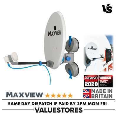 Maxview Remora 40 Suction Mounted Portable Sky Satellite TV Caravan Dish Twin