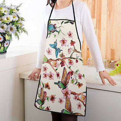 067cb492b8a3a FLORAL BUTTERFLY APRON Cooking Workwear Kitchen Clean Tools Fashion Pinafore