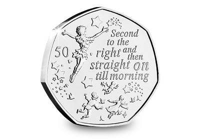 PETER PAN PRE ORDER BUNC 50p Pence Brilliant Uncirculated Fifty Pence Coin