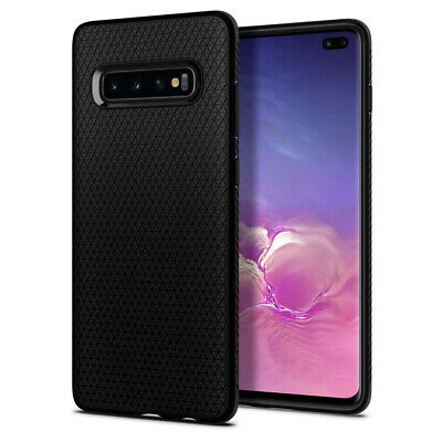 Galaxy S10 Plus Case, Spigen Liquid Air Slim Enhanced Grip Cover - Matte Black