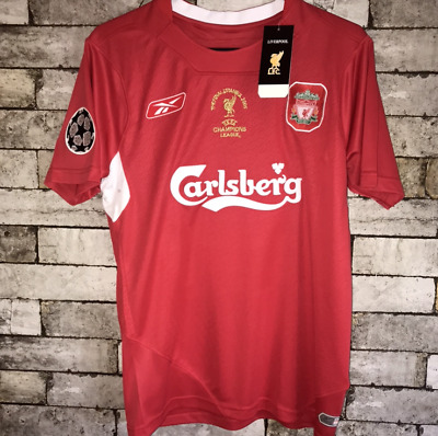 Liverpool Retro 2004/05 Champions Home Shirt (Gerrard #8) (Alonso #14)