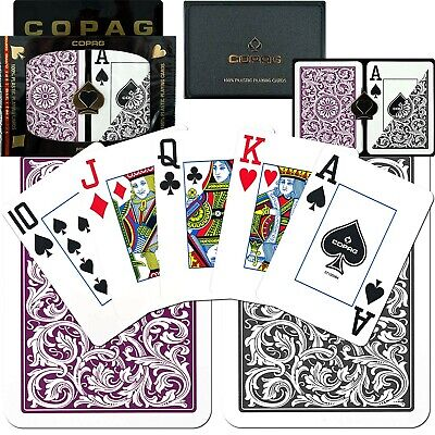 COPAG Pair of Plastic Playing Cards Poker Size large face USED once