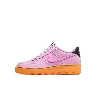 Juniors Women Nike Air Force 1 LV8 Style GS Trainers Pink AR0735 600