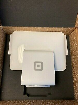 Square Stand for Apple iPad  - White BONUS KIT Dock and Contactless reader
