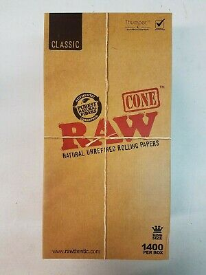 RAW Cone Classic Rolling Papers 1400 Per Box King Size