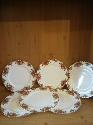 Royal Albert Old Country Roses dinner Plates X 6