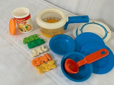 Fisher Price Fun with Food White cup glass beverage drink dish rack kitchen toy