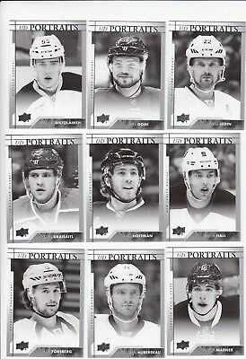 2017-18 Upper Deck UD Portraits - Pick the cards of your choice