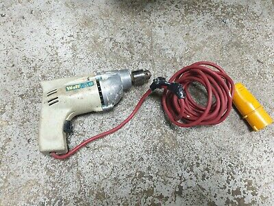 WOLF Corded 110v Chuck Drive Power Drill Electric Mains Old Vintage Antique
