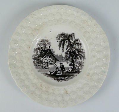Middlesbrough Pottery earthenware pearlware child's nursery daisy plate c1852-87