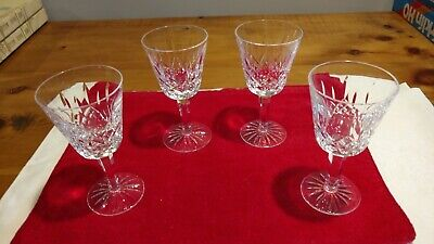 "Waterford crystal wine glasses. Lismore pattern. Lot of 4. 5 7/8"". Pre-owned."