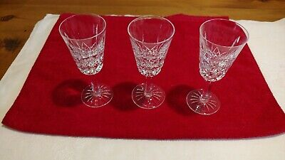 "Waterford crystal Sherry wine glasses. Lismore pattern. Lot of 3. 5 1/8"". V.nice"