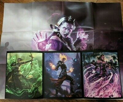 Loot Crate Gaming Magic the Gathering Arena Poster Triptych Art Print + Code NEW