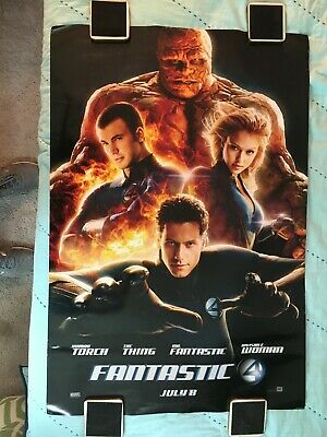 "MARVEL COMICS ""FANTASTIC FOUR 4"" 2005 ORIGINAL MOVIE POSTER  27"" x 40"" D/S"