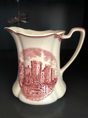 Johnson Bros Old Britain Castles Red Transferware Pitcher, 32 Oz.