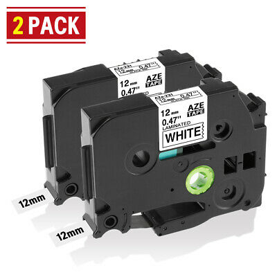 231 Compatible Brother TZe 231 P-Touch TZ Tape White P-Touch Label Tape 12mm 2x